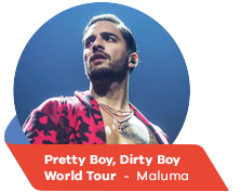 Pretty Boy, Dirty Boy World Tour  -  Maluma