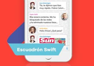 La conversación de WhatsApp del grupo de amigas de Taylor Swift