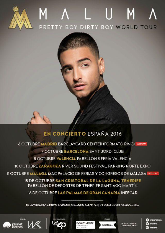 Maluma comienza su primera gira espa ola con dos sold out for Ibercaja valencia oficinas