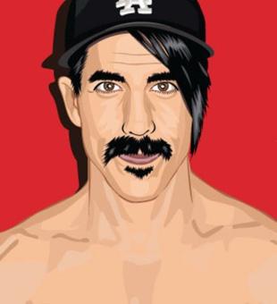 Nos colamos en el camerino de Anthony Kiedis, de Red Hot Chili Peppers