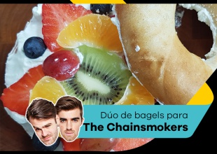 Unos bagels deliciosos para el dúo The Chainsmokers
