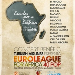 El Pescao, Alexandra Stan y Pablo Alborán en el Euroleague for Africa 40 Pop