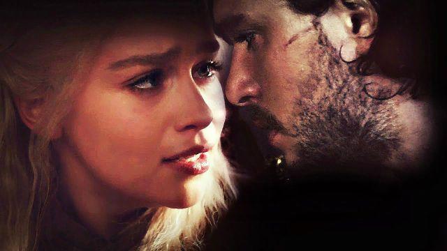 162dd91b60fbd Escena de  Juego de Tronos  con Daenerys Targaryen (Emilia Clarke) y Jon  Snow (Kit Harington)