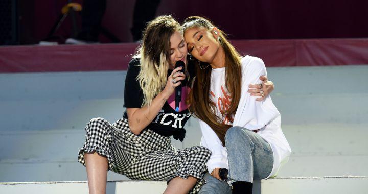 Miley Cyrus quiere trabajar su amistad con Ariana Grande
