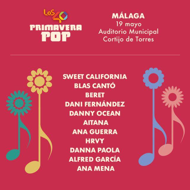 ¡Este es el cartel de LOS40 Primavera Pop Málaga!