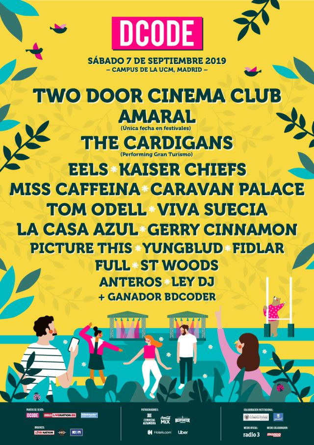 Amaral, The Cardigans y Two Door Cinema Club, al festival DCODE 2019
