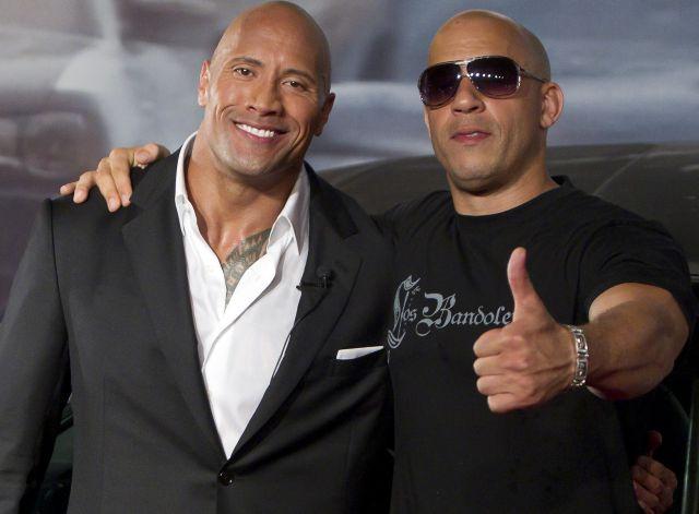 Vin Diesel y Dwayne Johnson: Dos duros muy blandos en el cumpleaños de Paul Walker