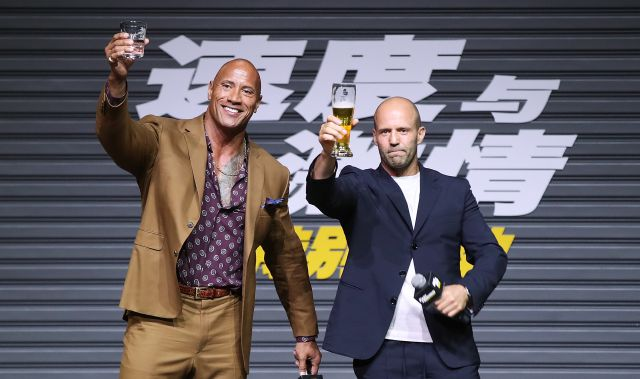 Dwayne Johnson y Jason Statham