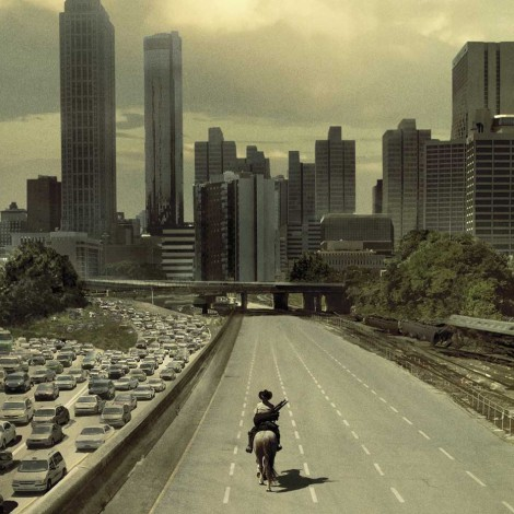 La escalofriante foto de las carreteras de Atlanta que replica el póster de 'The Walking Dead'