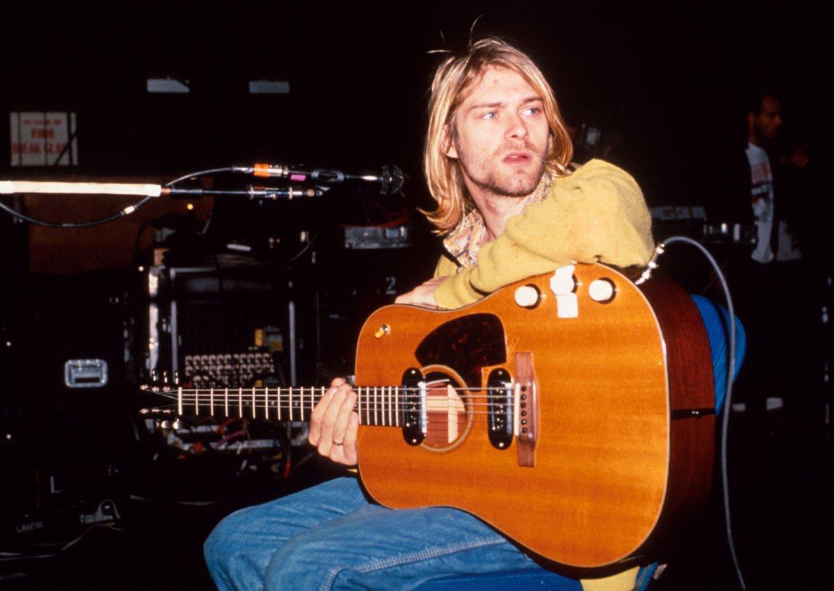 Plato de papel de Kurt Cobain