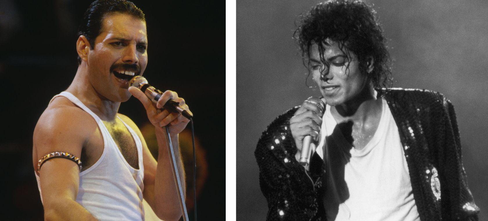 Esto es lo que pasó en la cena que compartieron Freddie Mercury y Michael Jackson