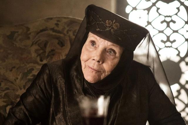 Muere Diana Rigg, la magnífica Lady Olenna de 'Juego de tronos'