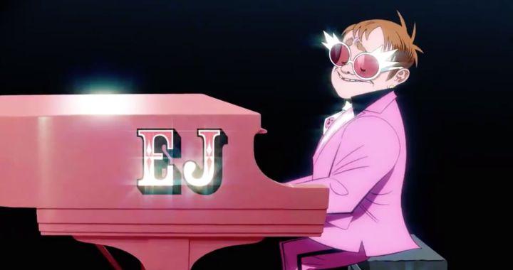 Gorillaz convierte a Elton John en dibujo animado en su colaboración 'The Pink Phantom'