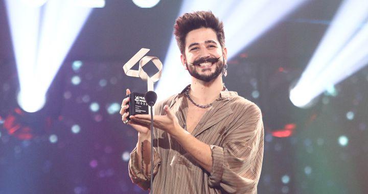 """El emotivo discurso de Camilo (Mejor Artista Revelación Latino): """"Alegrías y esperanza cuando más se necesita"""""""