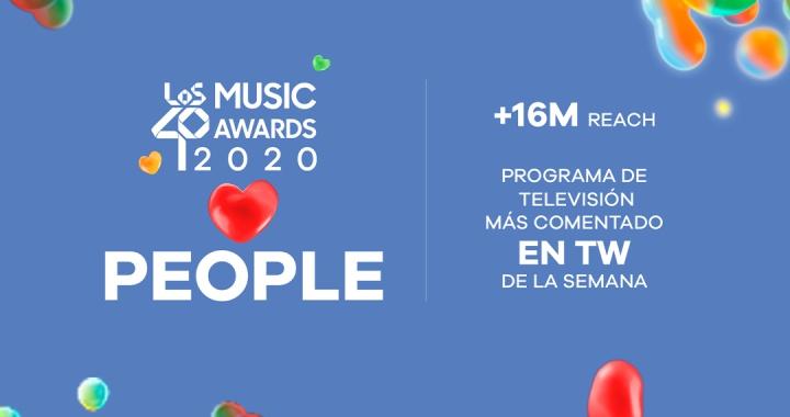 LOS40 Music Awards 2020 baten récords: 16.000.000 de reach y el contenido televisivo más comentado en Twitter