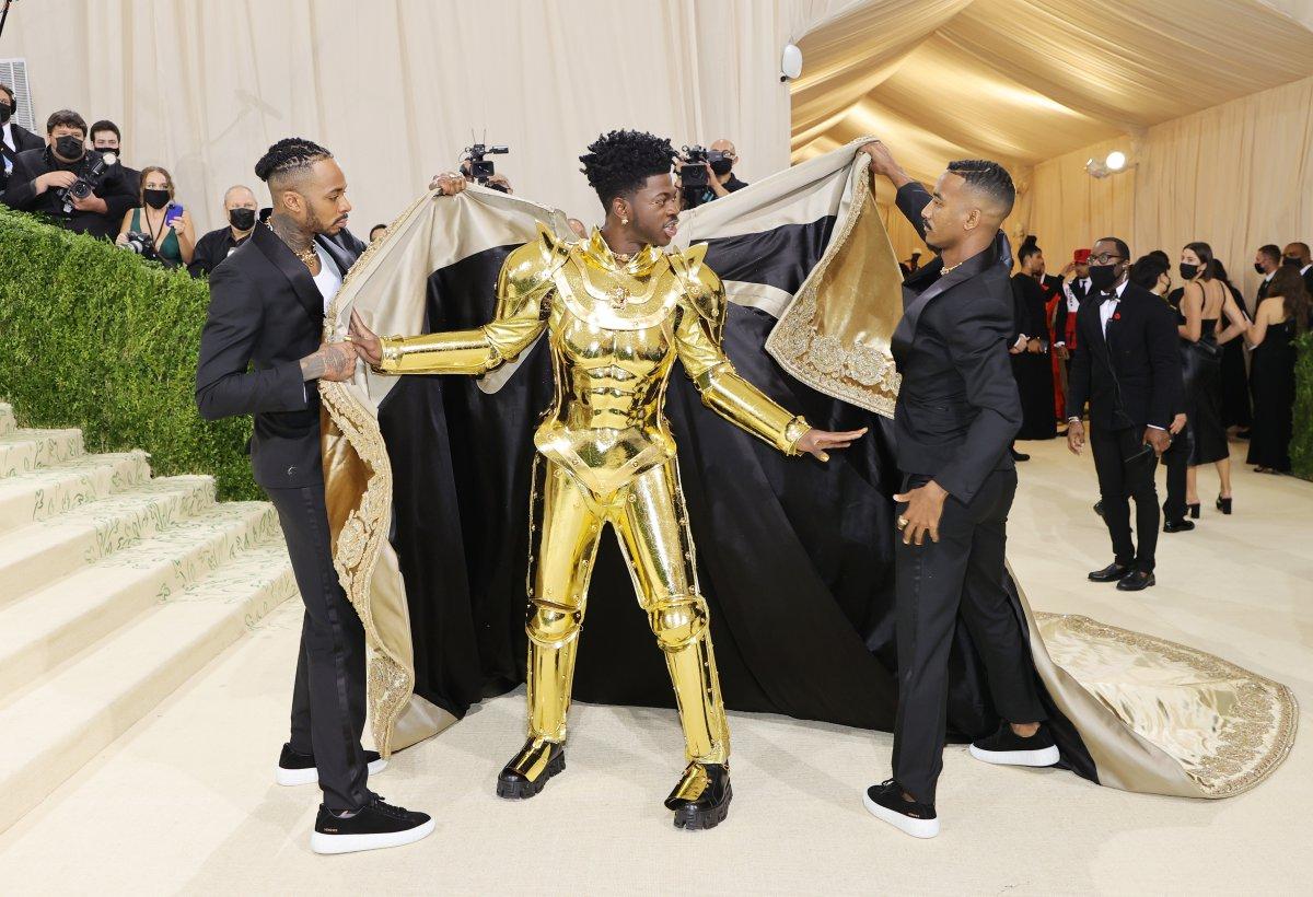 Lil Nas X, at the MET 2021 gala