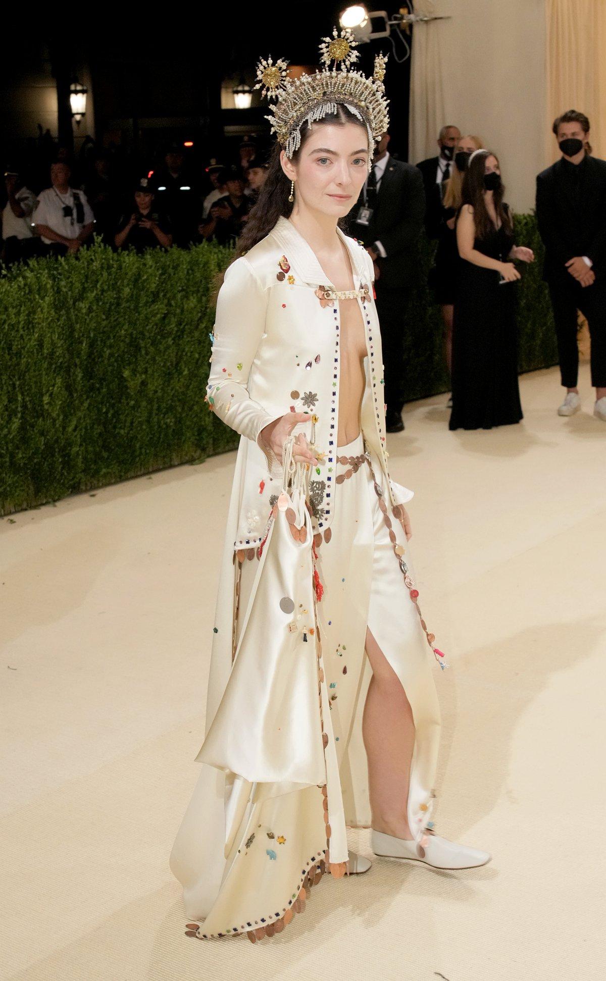 Lorde, at the MET 2021 gala