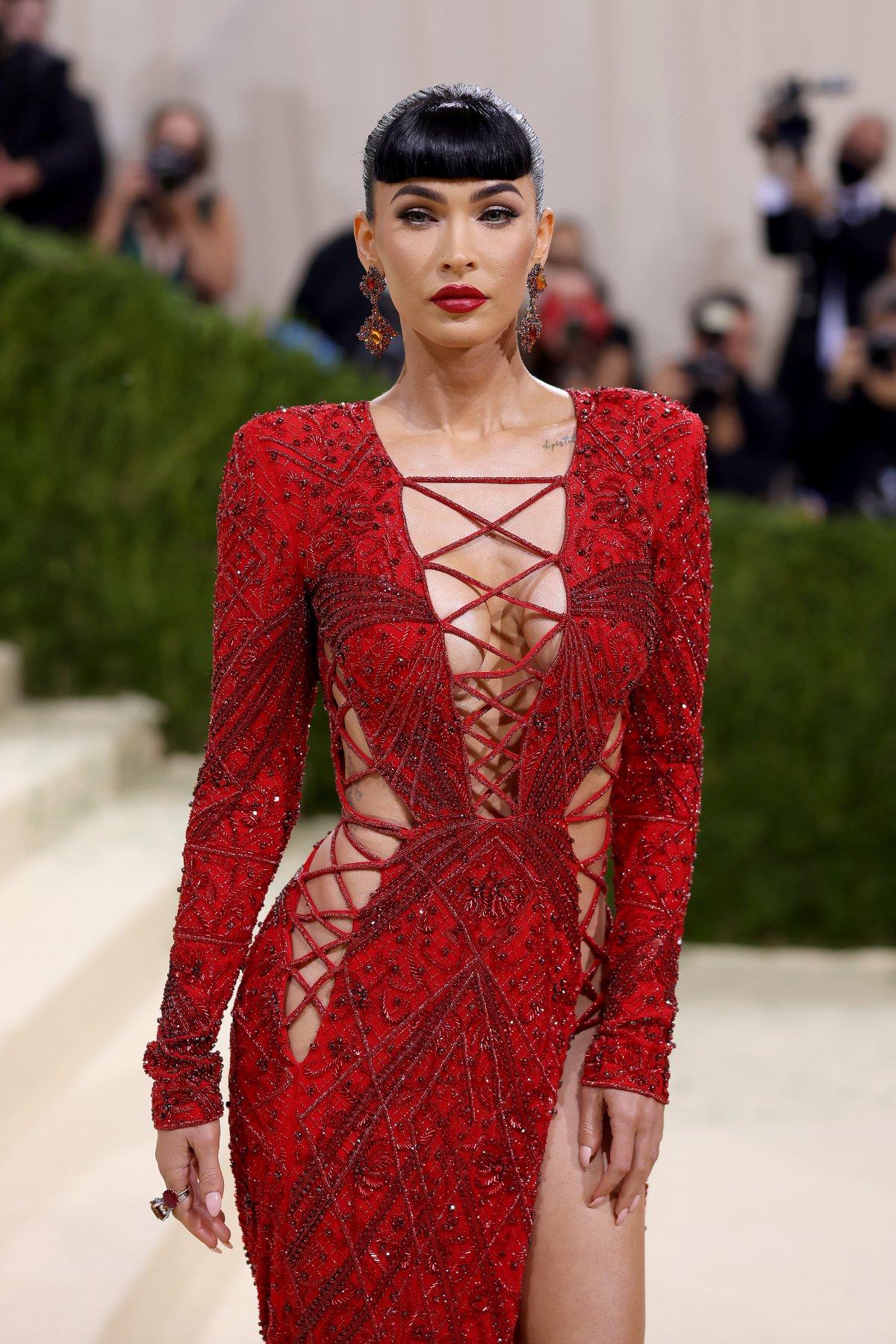 Megan Fox, at the MET Gala 2021