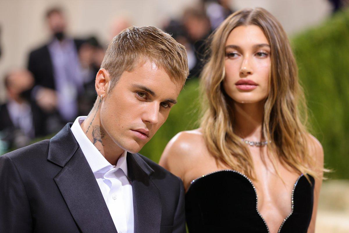 Justin Bieber and Hailey Baldwin, at the MET Gala 2021