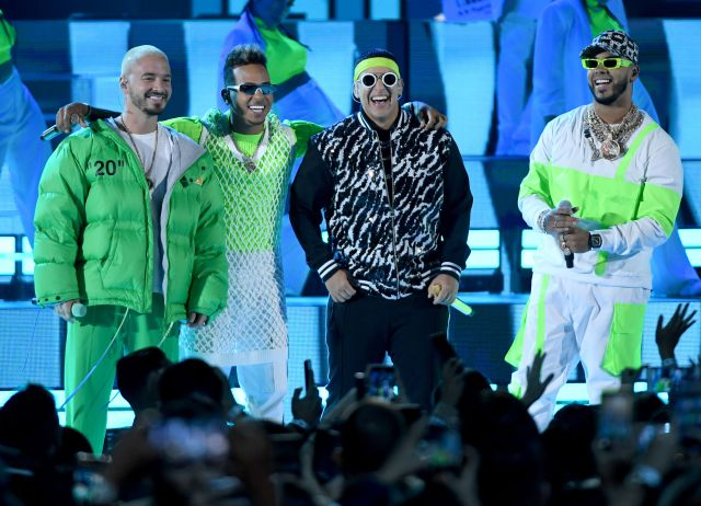 J Balvin, Ozuna, Daddy Yankee y Anuel AA.