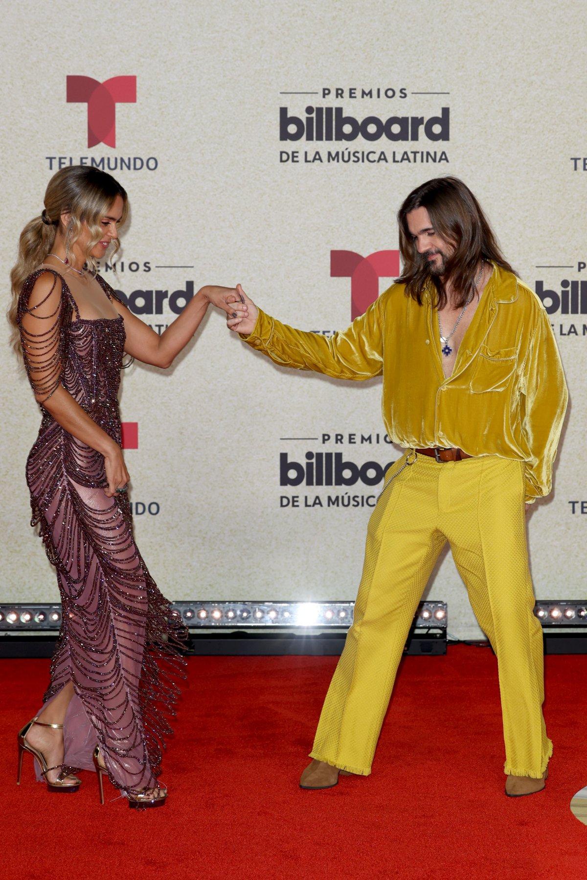 Juanes and Karen Martínez, at the Latin Billboard Awards
