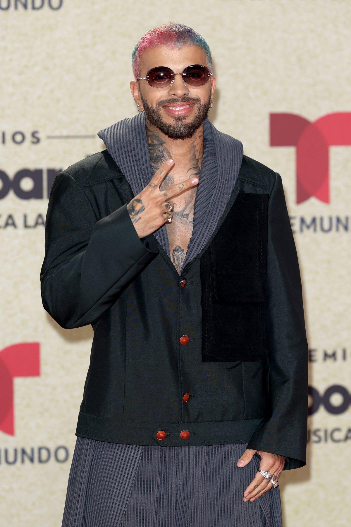 Rauw Alejandro, at the 2021 Latin Billboard Awards