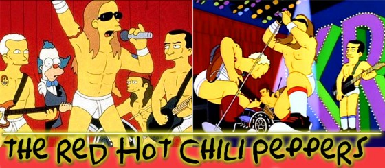 The Red Hot Chili Peppers tocan para Los Simpson